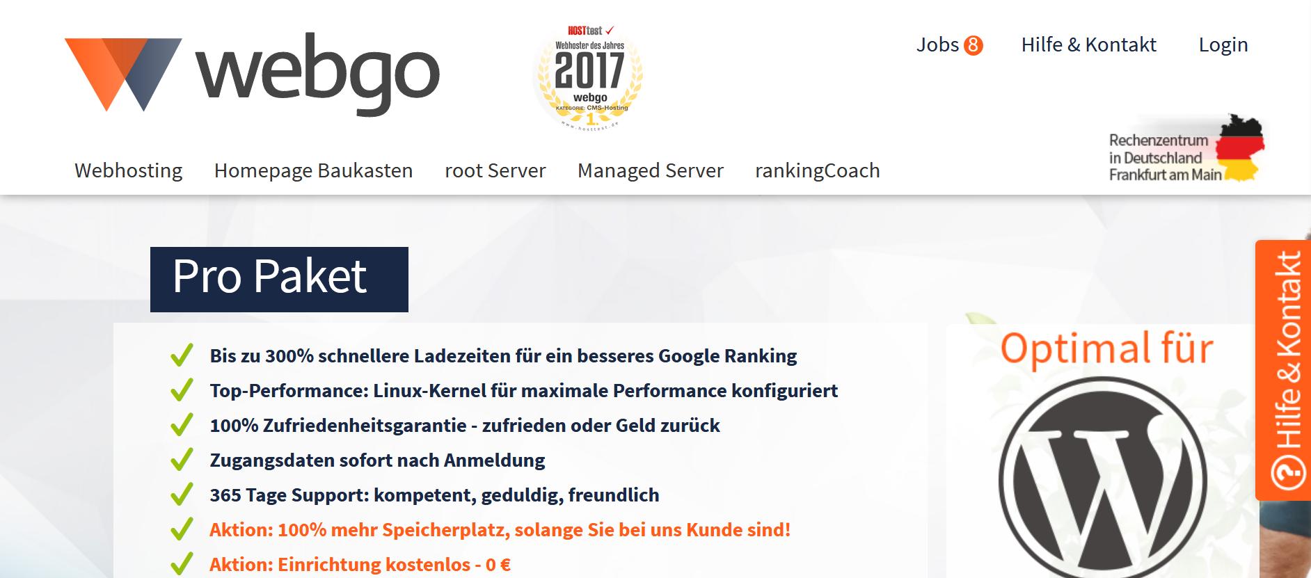 Geeigneter Webhoster, um einen professionellen Blog zu erstellen