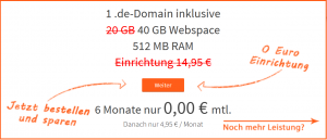 Webhoster Angebot